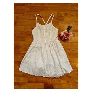 Girls White Eyelet Cherokee Brand Dress